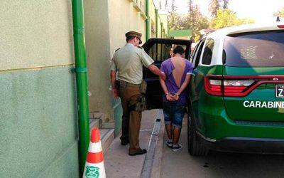 Carabineros de Codegua detiene a sujeto por robo a mano armada
