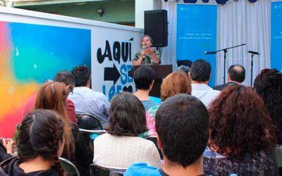 Con actividades lúdicas y canto a lo poeta se presentó el Plan Regional de la Lectura