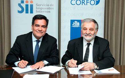 Corfo y el SII firman acuerdo para potenciar el factoring en las mipymes