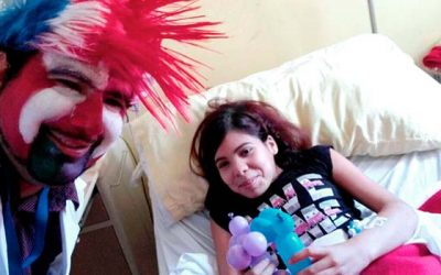 Dr Tocris retoma sus labores de risoterapia en Hospital San Fernando