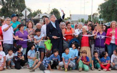 Vecinos celebran la conexión vial de Eusebio Lillo