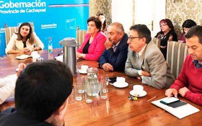 Gobernadora se reúne con alcaldes de la Provincia de Cachapoal