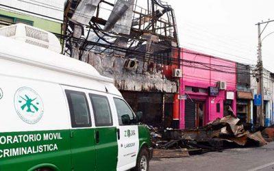 Incendio arraza con locales comerciales en la comuna de Rancagua