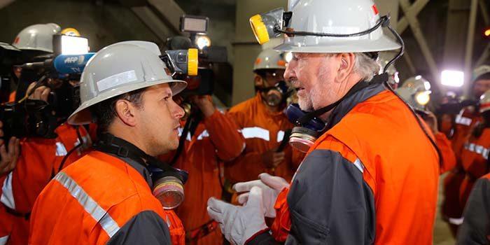 Intendente y ministro de Minería visitan el nuevo nivel mina de El Teniente