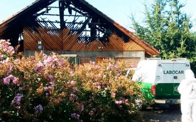 Labocar investiga incendio que afectó a un domicilio en Rengo