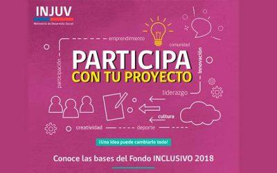 Nuevo fondo concursable Injuv inclusivo 2018