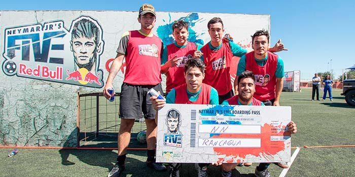 Rancagua disfrutó la primera versión del torneo internacional de fútbol calle Neymar Jrs Five