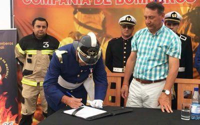 Tercera Compañía de Bomberos de Machalí recibe el terreno para su futuro cuartel
