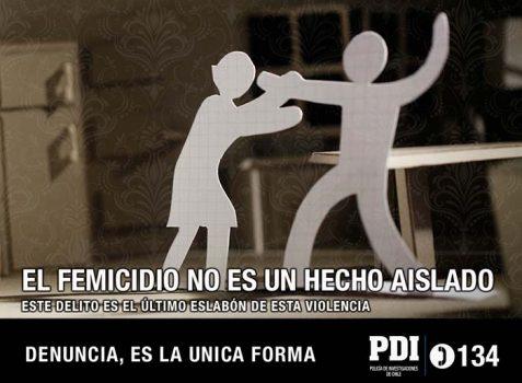 Campaña educativa de la PDI sobre el femicidio