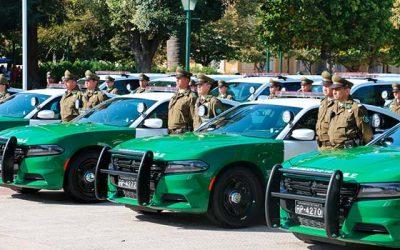 Entregan 25 vehículos policiales para reforzar seguridad en 21 comunas de la región