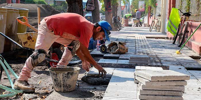 Este lunes se da inicio a la reposición de veredas de la calle España de San Fernando