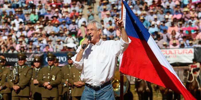 Presidente Sebastián Piñera visita la Medialuna de Rancagua para la final de Champion