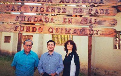 Profesionales de Piensa O'Higgins visitan Escuela Agrícola San Vicente de Paul