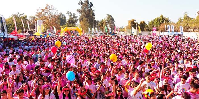 Rancagua celebró The color run dream con más de 7 mil asistentes