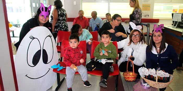 Salud Machalí celebra la pascua de resurrección enseñando alimentos saludables