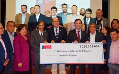 Seremi de Salud entrega cerca de 230 millones de pesos a todos los municipios para fomentar estilos de vida saludables