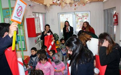 Comunidad escolar del jardín infantil Santa Teresita se comprometen a trabajar contra el tabaquismo junto a Salud Machalí