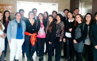 Estudiantes de Derecho de la UOH visitan el Segundo Juzgado Civil de Rancagua