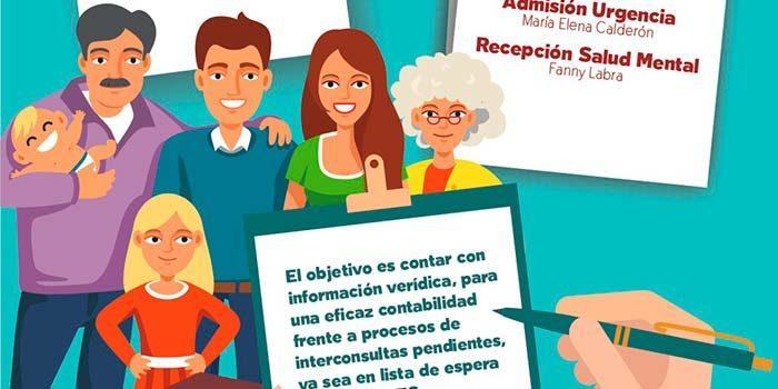 Hospital de Coinco realiza campaña de actualización de datos de pacientes y usuarios