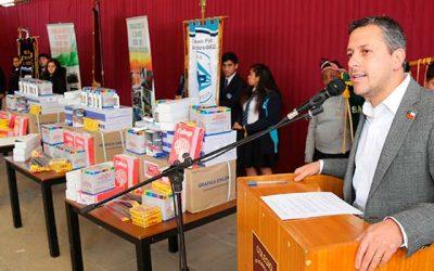 Intendente acompaña a trabajadores de la Minería en entrega de 500 sets de útiles escolares