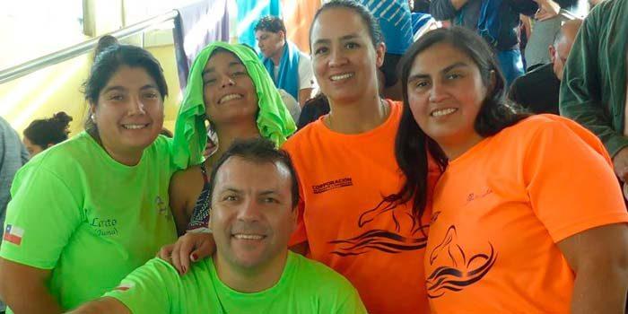 Mujeres del Master Sexta Machalí presentes en la Copa Peñalolén Master de Natación