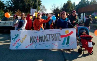 Niños y niñas de Integra marchan contra la violencia infantil