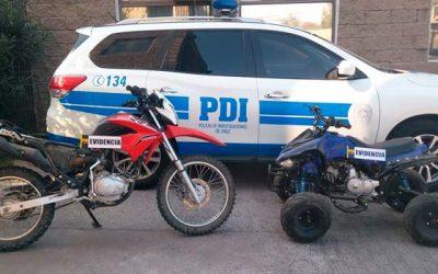 PDI detiene a sujeto que pretendía vender cuatrimoto robada
