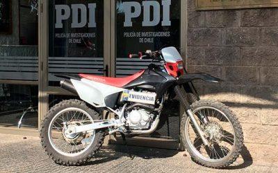 PDI recupera moto robada que estaba siendo ofertada por Internet