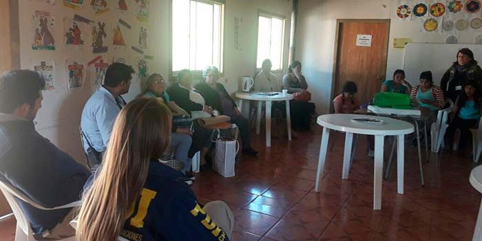 Senda Previene Pichilemu, Oficina de Seguridad Publica y PDI realiza charla a taller comunitario del sector la Aguada