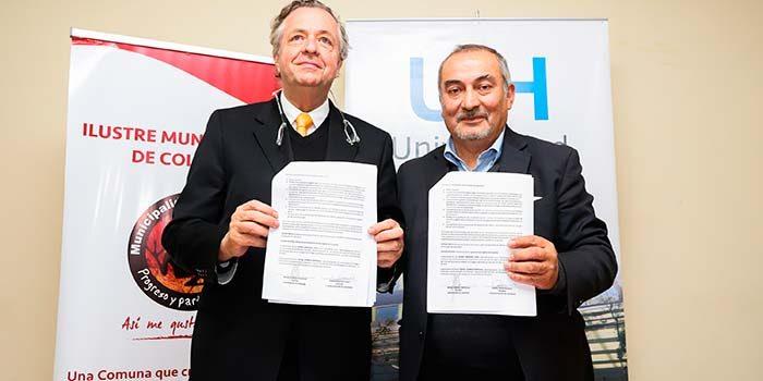 UOH firma acuerdo con Municipalidad de Coltauco