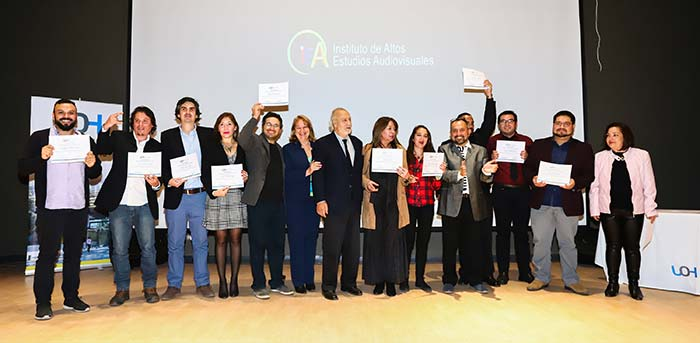 UOH realiza ceremonia de certificación de Diplomado de Artes Audiovisuales 2017