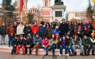 Alumnos de escuela especial visitan Pichilemu gracias a viajes de estudio de Sernatur