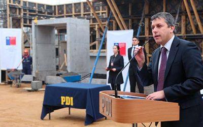 Avances del nuevo cuartel de la Policía de Investigaciones en Santa Cruz
