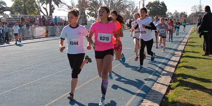 Escolares participaron en la primera fecha del torneo atlético Corporación de Deportes de Rancagua