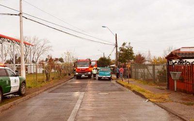 Incendio en Machalí cobra vida de una persona de tercera edad