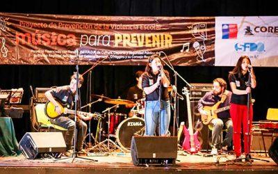 Jóvenes sanfernandinos demuestran todo su talento en la presentación de Música para prevenir