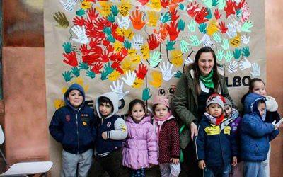 Niños del jardín infantil Arco Iris del Hospital Regional se comprometen con el medioambiente