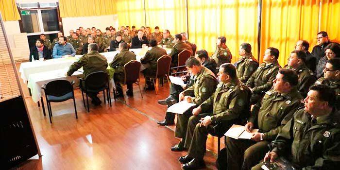 Prefectura Colchagua realiza segunda reunión mensual de Plan STOP