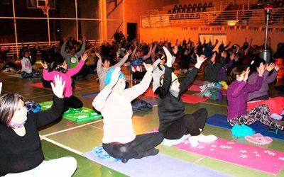 Rancaguinos celebraron el día internacional del Yoga