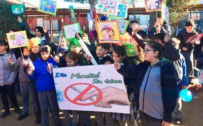 Senda Previene Pichilemu realiza actividad conmemorativa al día internacional sin tabaco