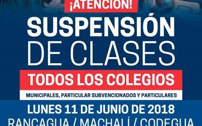 Suspenden clases en comunas de la región de OHiggins