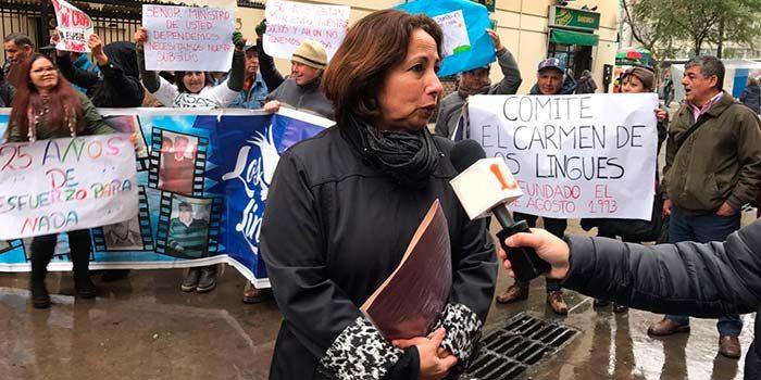 Diputada Sepúlveda y dirigentes de comités de viviendas de la Región protestan ante el Minvu
