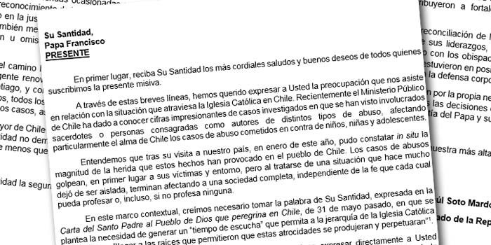 Diputado Raúl Soto pide al Papa renuncia de Cardenal Ezzati