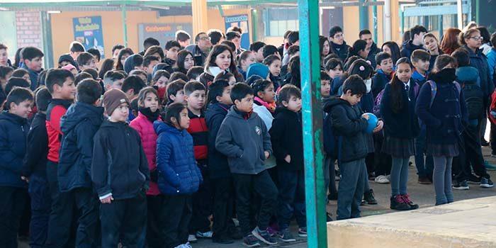 Estudiantes de Rancagua vuelven a clases