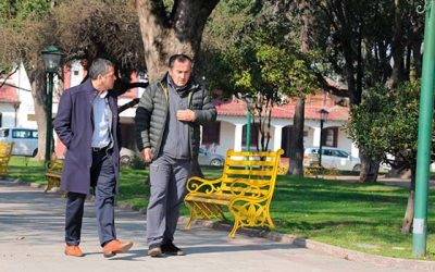 Intendente y alcalde de Peumo recorren la comuna y conocen avances de proyectos financiados por el gobierno regional