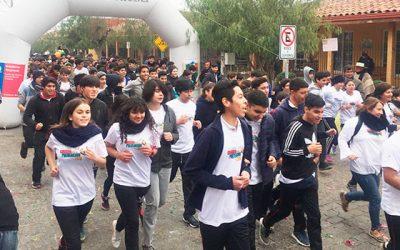 Liceo Agustín Ross Edwards y Senda Previene Pichilemu participan en la corrida regional de Chépica