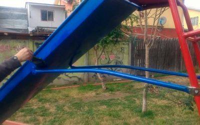 Municipio de Olivar revisa la totalidad de los juegos infantiles de la comuna