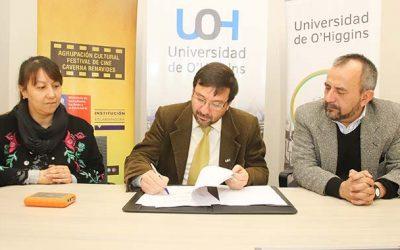 UOH firma convenio para exhibir cortometrajes seleccionados en el Festival Internacional de Cine de Lebu