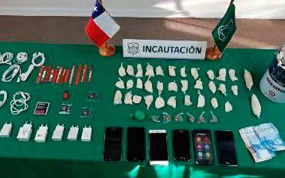 Importante decomiso de sustancias ilícitas en cárcel de Rancagua
