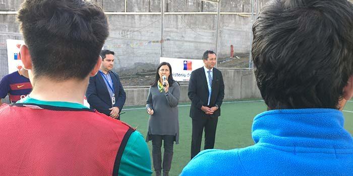 Ministra del Deporte visita Centro de Justicia Juvenil de Graneros
